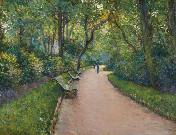 The Parc Monceau 1 By Gustave Caillebotte by Gustave Caillebotte
