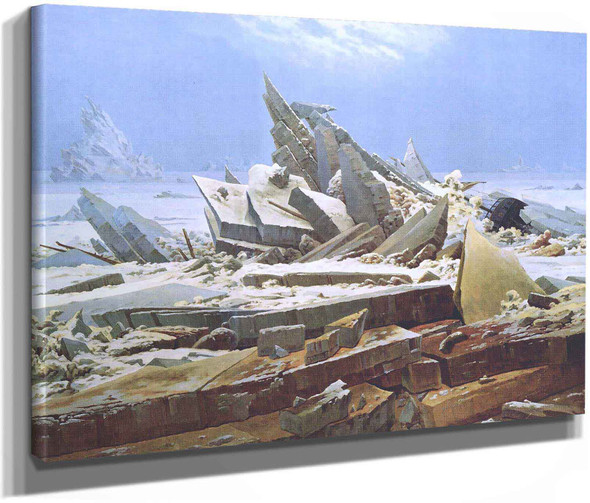 The Sea Of Ice Aka Polar Sea Also Known As The Wreck Of Hope In Reference To An Early North Pole Expedition by Caspar David Friedrich