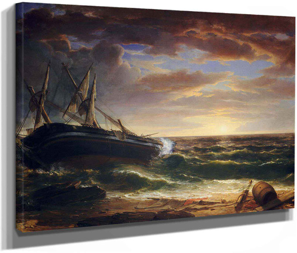 The Stranded Ship By Asher B Durand by Asher Brown Durand
