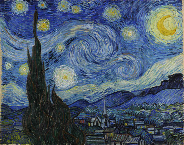 Van Gogh Starry Night Google Art Project by Vincent Van Gogh