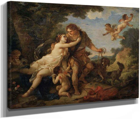 Venus And Adonis by Charles Joseph Natoire