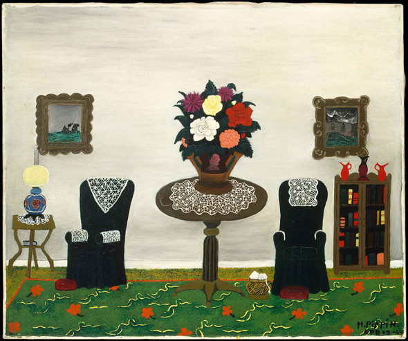 Victorian Interior Ii By Horace Pippin by Horace Pippin