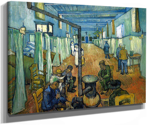Ward In The Hospital In Arles by Vincent Van Gogh