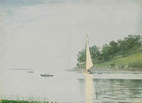 Winslow Homer Yacht In A Cove Gloucester by Winslow Homer