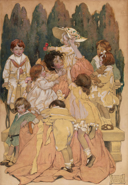 A Childs Garden Of Verses Book Illustration 1905 by Jessie Willcox Smith