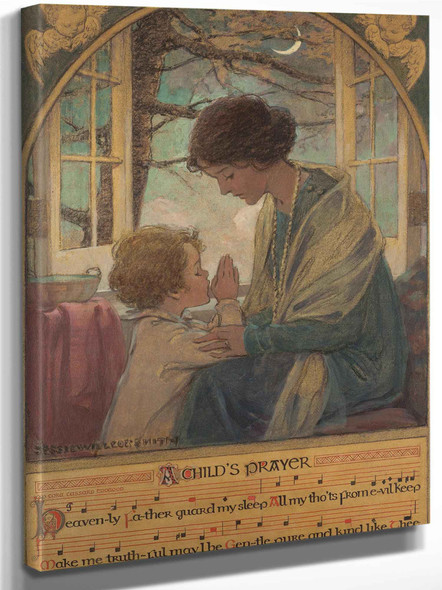 A Childs Prayer Book Cover 1925 by Jessie Willcox Smith