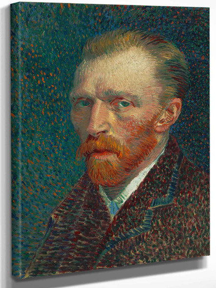 A Head And Shoulders Portrait Of A Thirty Something Man With A Red Beard Facing To The Left by Vincent Van Gogh