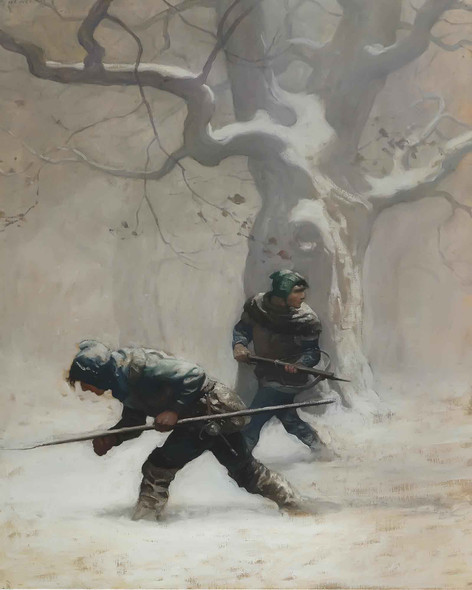And Lawless Keeping In Fron Of His Companion by Nc Wyeth
