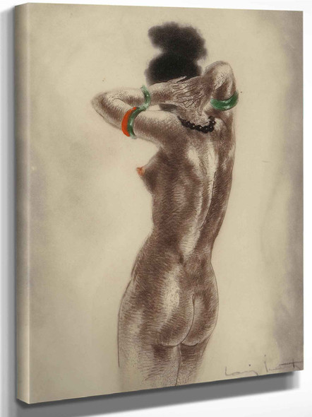 Art Professor And Nude (Two Works) by Louis Icart