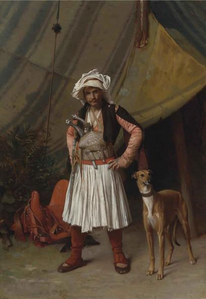 Bashi Bazouk And His Dog Jean Leon Gerome by Jean Leon Gerome