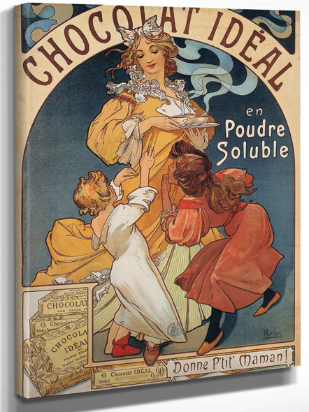 Chocolat Ideal By Alphonse Maria Mucha by Alphonse Maria Mucha