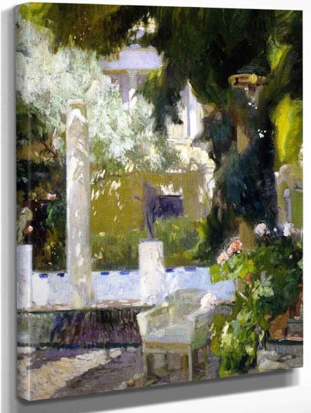 Garden Of The Sorolla House2 By Joaquin Sorolla Y Bastida