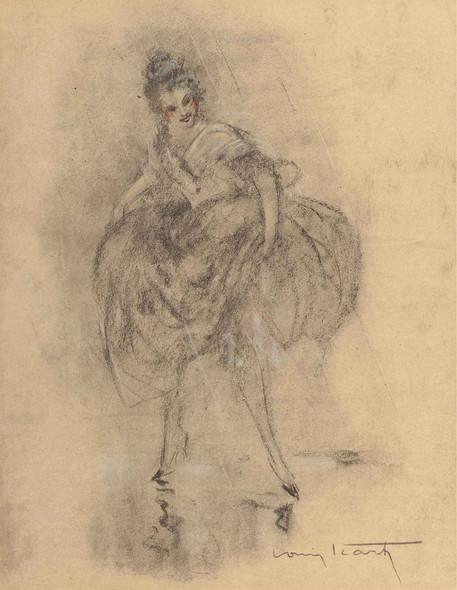 Dessin Des Femmes Circa 1928 by Louis Icart