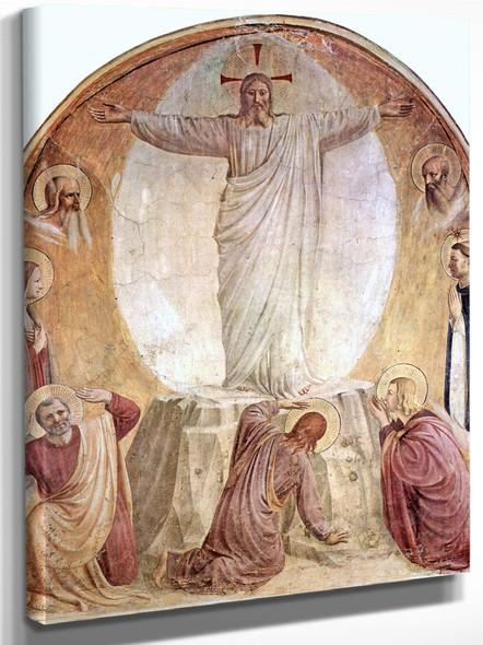 Freskenzyklus Im Dominikanerkloster San Marco In Florenz Szene Verklärung Christi by Fra Angelico