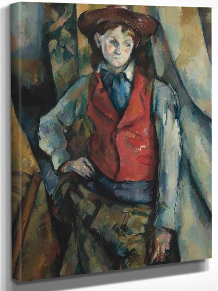 Garçon Au Gilet Rouge by Paul Cezanne