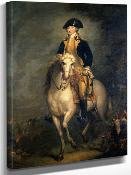 George On Horseback Web by Rembrandt Peale