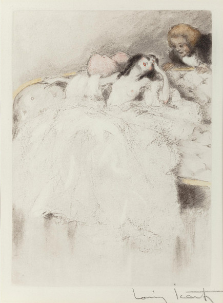 Group Of Six Erotic Works by Louis Icart