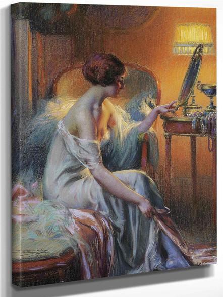 Jeune Femme Se Regardant Dans Un Miroir by Enjolras Delphin