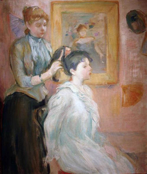 La Coiffure Berthe Morisot by Berthe Morisot