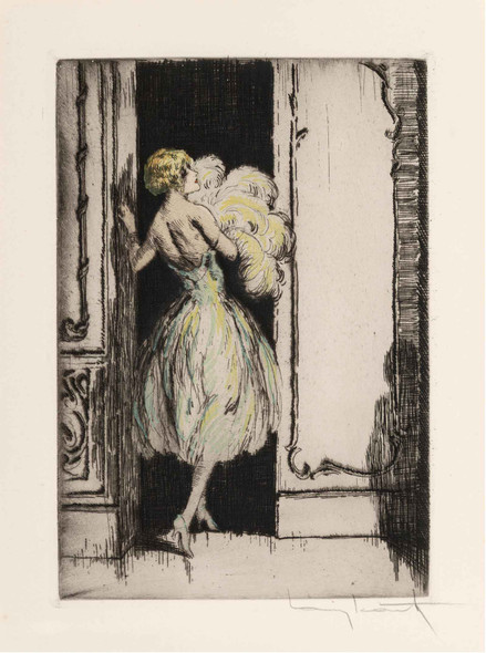 Lingenue Libertine 1926a by Louis Icart