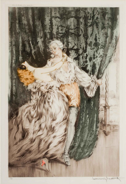 Masquerade 1928 by Louis Icart