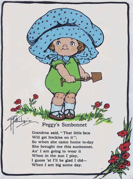 Peggys Sunbonnet Illustrated 2 by Grace G Drayton