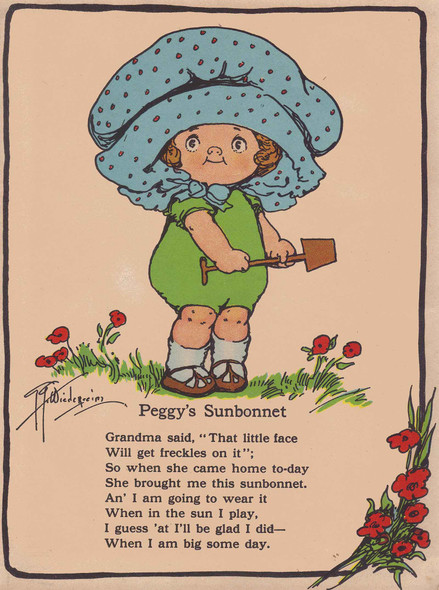 Peggys Sunbonnet Illustrated by Grace G Drayton