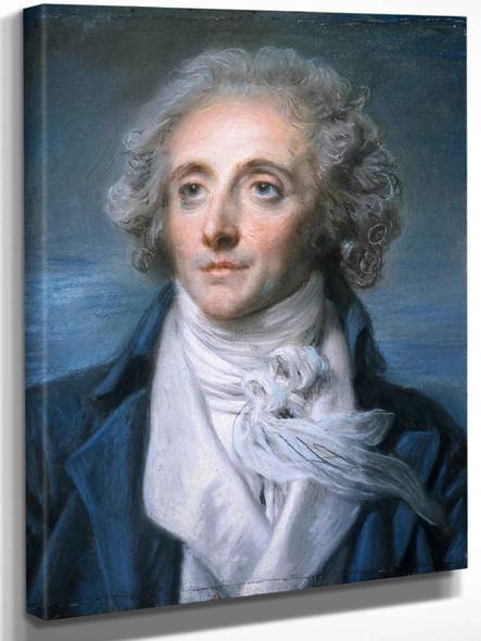 Portrait Of Nicolas Pierre Baptiste Anselme Called Baptiste Aîne by Jean Baptiste Greuze