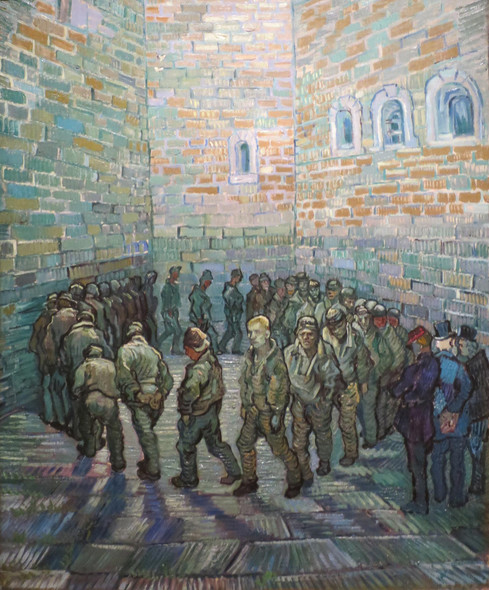 Prisoners Exercising Also Known As Prisoners Round (After Gustave Dore) by Vincent Van Gogh