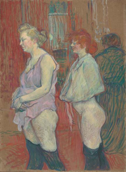 Rue Des Moulins by Henri De Toulouse Lautrec