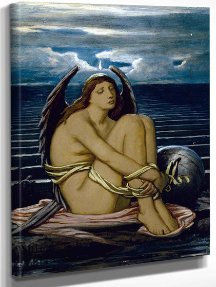 Soul In Bondage By Elihu Vedder by Elihu Vedder