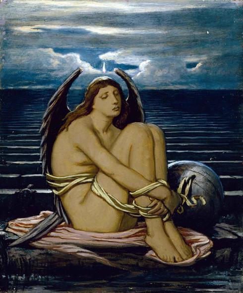 Soul In Bondage By Elihu Vedder by Elihu Vedder