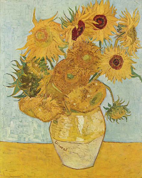 Still Life Vase With Twelve Sunflowers by Vincent Van Gogh