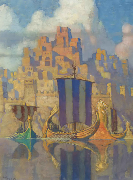 The Phoenician Biremes by Nc Wyeth