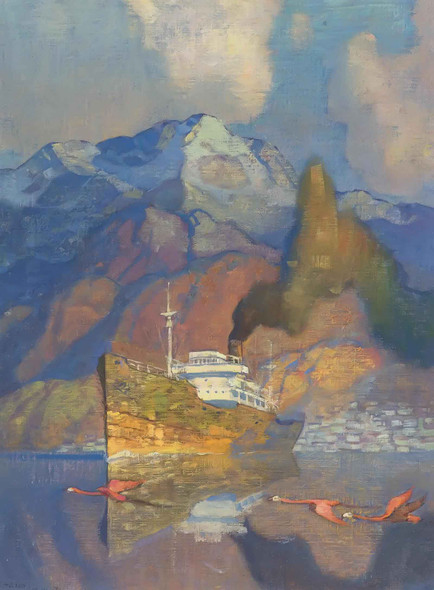 The Tramp Steamer by Nc Wyeth