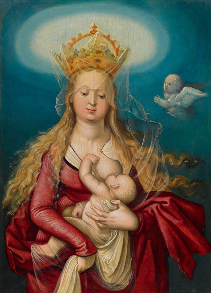 The Virgin As Queen Of Heaven Suckling The Infant Christ by Hans Baldung Grien