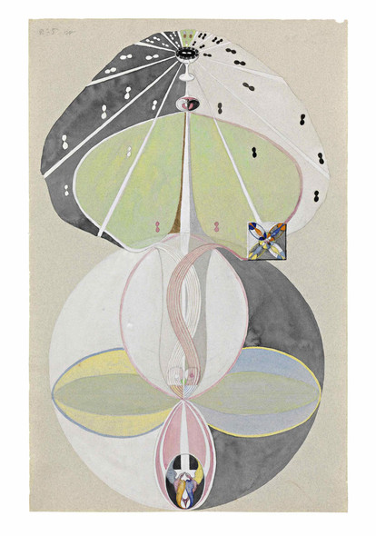 Tree Of Knowledge No 5 By Hilma Af Klint by Hilma Af Klint