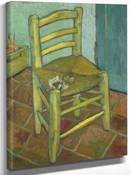 Van Goghs Chair Vincents Chair With His Pipe by Vincent Van Gogh