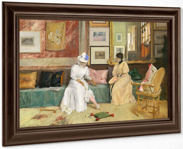 A Friendly Call by William Merritt Chase