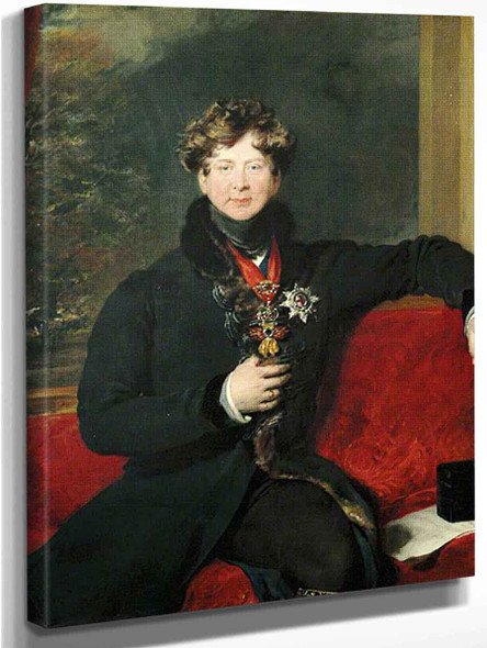 George Iv, Seated In Morning Dress1 By Sir Thomas Lawrence