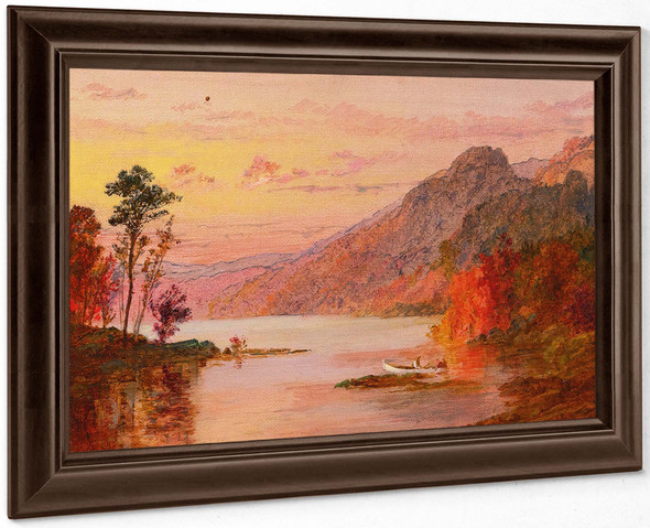 A Lake In The Catskill Mountains by Jasper Francis Cropsey