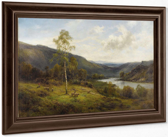 A Perthshire Valley by Alfred De Breanski