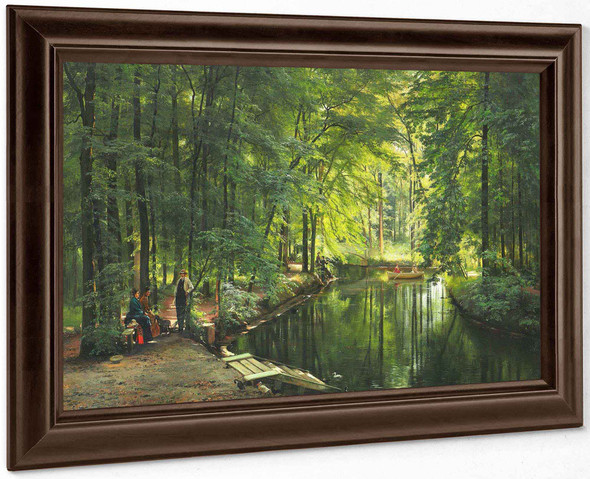 A Stream In The Spring Woods (1885) by Carl Frederik Peder Aagaard