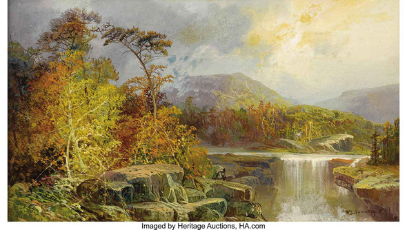 Along The Ohio (Clement Falls New Hampshire) 1851 by William Louis Sonntag