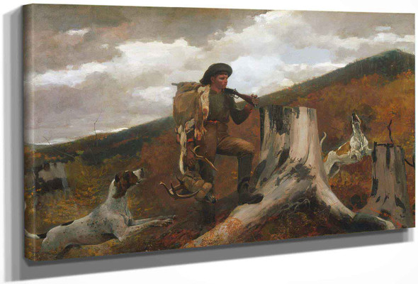 American A Huntsman And Dogs by Winslow Homer