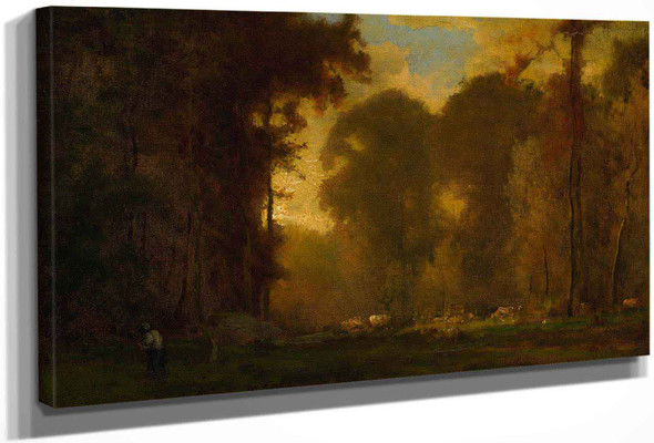 Autumn Sunset by George Inness