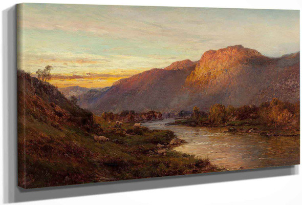 Below The Falls Of Glenfinlas Scotland by Alfred De Breanski