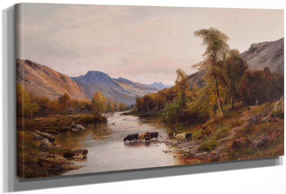 Cattle In The Highlands by Alfred De Breanski