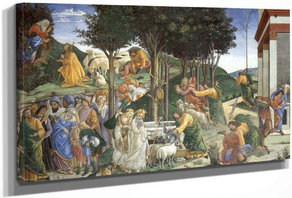 Eventos En La Vida De Moises by Sandro Botticelli