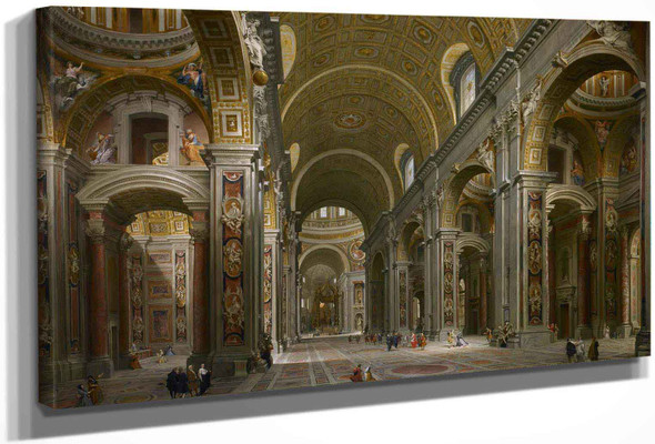 Interior Of St Peters Rome by Giovanni Paolo Panini